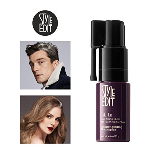 Style Edit Instant Hair Building Fibers, for Thinning Hair or Bald Spots, Hair Loss Concealer, for Men And Women |LIGHT BROWN| (Multiple Colors Available)