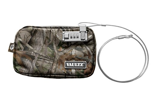 Vaultz Locking Field Gear Pouch with Tether, Small, 5 x 8 Inches, Next Camo (VZ00742) (Ideastream Vaultz Cash Box)