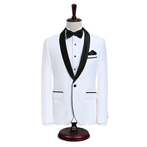 Man Suit Premium Formal Shawl Lapel Slim Fit Tuxedo Prom Wedding Groom Suits Blazers Jacket ()