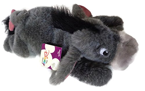 Disney Store Grey Gray Eeyore Laying Down with Velcro Tail Plush - Store Outlet Disney