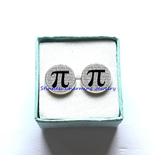 Pi Earrings Math Jewelry Teachers, Science, Mathematics Black and White Art Earrings, math Earrings,geometry (Mathlete Halloween Costume)