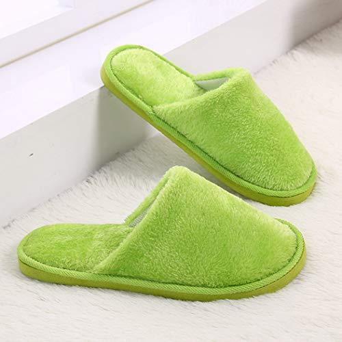 Intérieur Peluche Plates Flops Au Retourner Livraison Femmes Nikimi Vert Pantoufles Gratuite Plancher En Chaussures Tissu De Luxe Coton Printemps qY7gZwFx