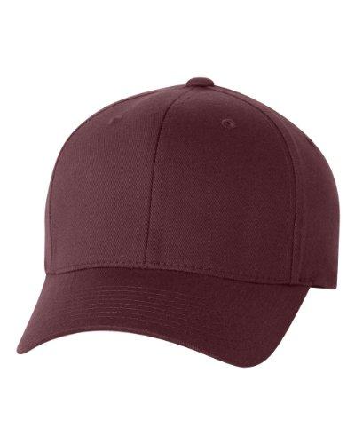 Flexfit Wooly Combed Twill Cap - 6277 (Large/XLarge, Maroon) (Blank Sandwich Cap)