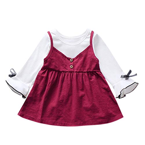Amazon.com: Hot Sale!Baby Spring Dress,Long Sleeves Bowknot ...