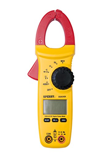 Sperry Instruments DSA540A 6 Function Digital Snap-Around Clamp Meter, Clamp-On AC / DC Voltage, 400 AMP Meter, AC / DC Current Reading, Reads Panel & Outlet Voltage, Includes Carrying Case, (Electrical Instrument Panel)