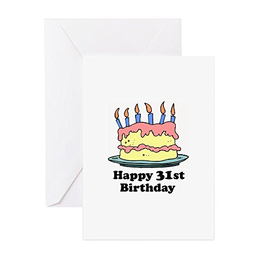 (CafePress - Happy 31St Birthday - Greeting Card, Note Card, Birthday Card, Blank Inside Matte)