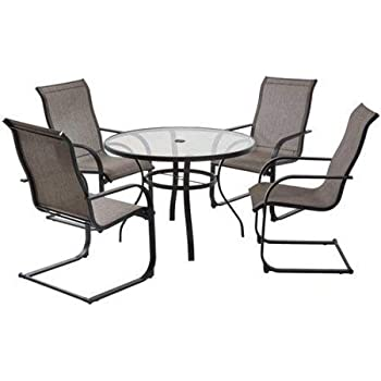 Amazon Com Mainstays Bristol Springs 5 Piece Dining Set