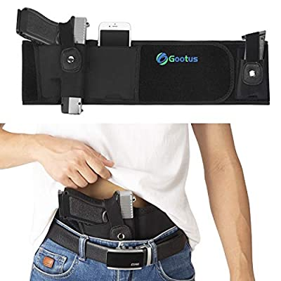 Belly Band Holster for Concealed Carry - Breathable Neoprene Waist Holster for Men and Women - Fits Glock, Ruger LCP, M&P Shield, Sig Sauer, Ruger, Kahr, Beretta, 1911, etc