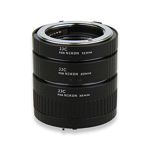 Auto Macro Extension Tube JJC 12mm 20mm 36mm Adapter Ring Tubes Set for Nikon D3400 D3300 D3200 D5600 D5500 D5300 D7500 D7200 D7100 D7000 D90 D80 D70 D60 D850 D800 D750 D700 D500 D300,ect