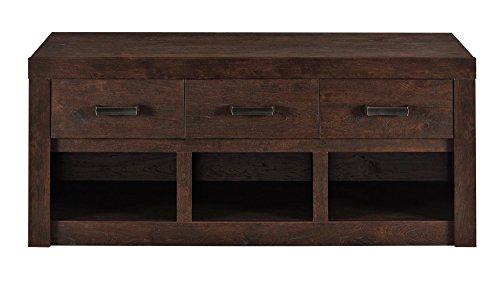 Altra Westbrook Storage Bench, Dark Walnut (Bench With Storage Drawers compare prices)