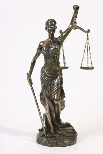 * Sale * Blind Lady Justice Statue Law Office Lawyer Gift – Magnificent