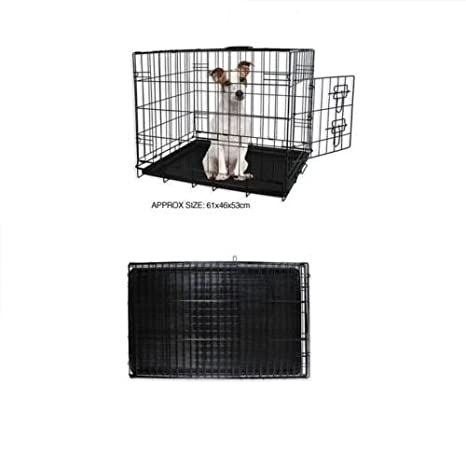 elitezotec Jaula de Metal Negro para Cachorros de Perro, Pequeña ...