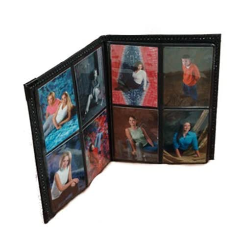 "Photo Album 2.5""x3.5"" holds 80 Elegant Black Leatherette Cover"