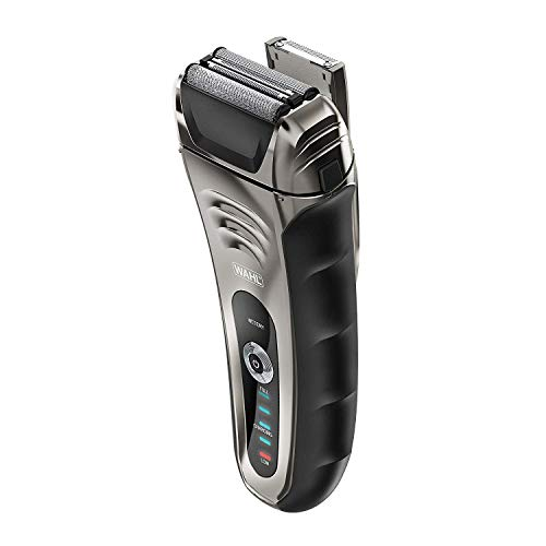 Wahl Speed Shave Rechargeable Lithium Ion Wet/Dry Waterproof Facial Hair Shaver with Speedflex Precision Foils #7069-100
