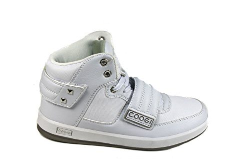 Coogi CBS435 Boy's Stein White Sneakers US 6