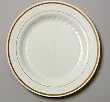 Amazon.com Gold Band 10.25\  Disposable Dinner Plates-60 Pack Kitchen \u0026 Dining  sc 1 st  Amazon.com & Amazon.com: Gold Band 10.25\