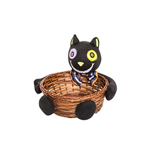 Kinghard Halloween Witches Ghosts Bats Pumpkins Candy Basket Party Storage Basket Gift, Halloween candy basket , Household supplies (Halloween 6 1080p)