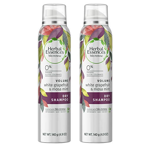 (Herbal Essences, Dry Shampoo, BioRenew White Grapefruit & Mosa Mint Naked Volume, 4.9 fl oz, Twin)