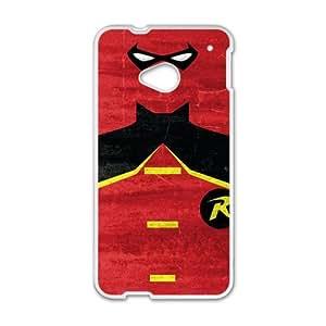 Batman Super Hero White HTC M7 case
