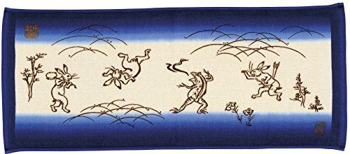 마루신(Marushin) 환마코토 페이스 타올 고산사 인정 금수 인물 희화 34×80cm 석수 면100% 일본제(MADE IN JAPAN) 이마바리 인정 타올 0525000500 산사 : 오렌지 / 석수 : 블루
