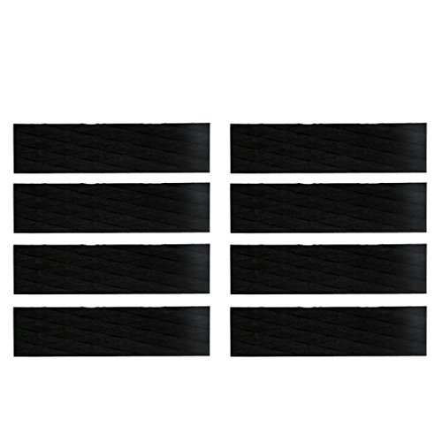 Dovewill 8 Pieces Premium EVA Surfboard Traction Pad Bar Deck Grip with Adhesive, for Surfing, Surfboard, Skimboard or Paddleboard by Dovewill