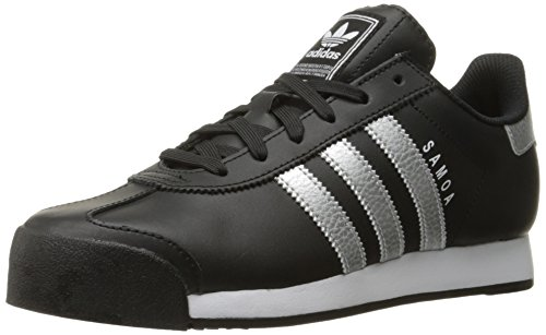 adidas Originals Women's Shoes | Samoa Fashion Sneakers, Black/Metallic Silver/White, (10 M US)