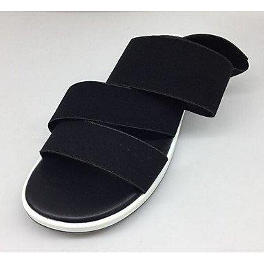 Women'S Comfort CN41 Summer EU40 Black Cowhide Sandals UK7 RTRY Flat Comfort US8 Casual qxHYwd7