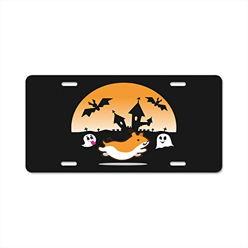 YEX Abstract License Plate Funny Hamster Halloween High