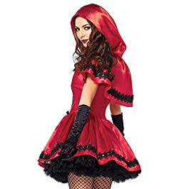 2Tl. Kostüm Set Gothic Riding Hood *Halloween*