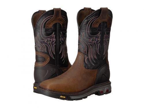 Justin(ジャスティン) メンズ 男性用 シューズ 靴 ブーツ 安全靴 ワーカーブーツ Tanker Soft Toe Black [並行輸入品] B07DNQ8QHD 10.5 D Medium