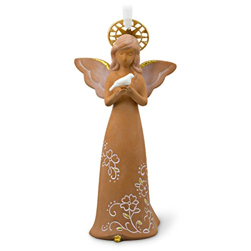 Hallmark Keepsake Christmas Ornament 2018 Year Dated Guardian Angel Figurine Ceramic ()