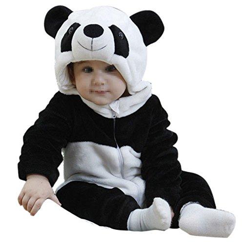 Baby Cosplay Animal Romper Animal Onesie sleepwear toddler Romper (S (76-85cm), Panda)