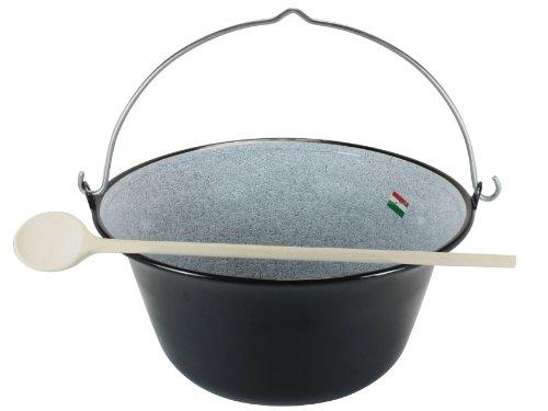 Grillplanet® Gulaschkessel 15 Liter emailliert, original in Ungarn hergestellt