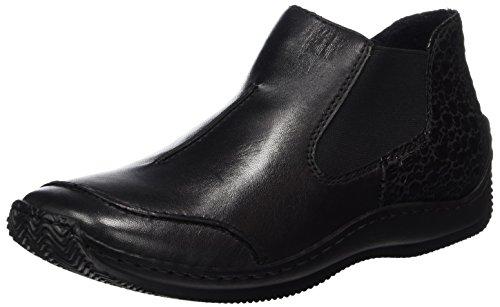 Rieker Dames Enkellaars Zwart 991142-1 Zwart