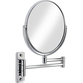 Better Living Products 13544 Cosmo Wall Mount Mirror With Folding Arm 8 Inch