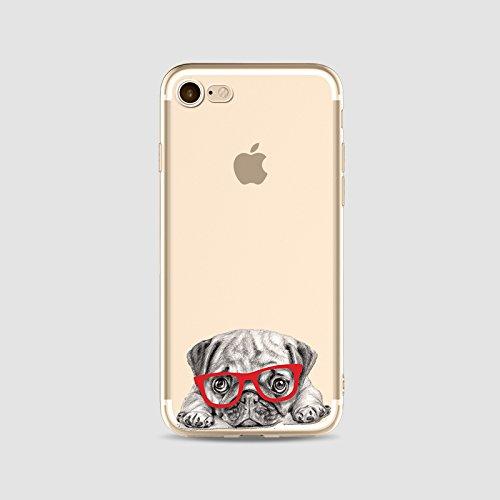 TPU silicone Housse Coque Pour iPhone 6 iPhone 6S, Ruirs Nice coloré d'impression mignons chien dog transparent transparent TPU téléphone étui pour iPhone 6 iPhone 6S 4.7inchs(Colour 1)