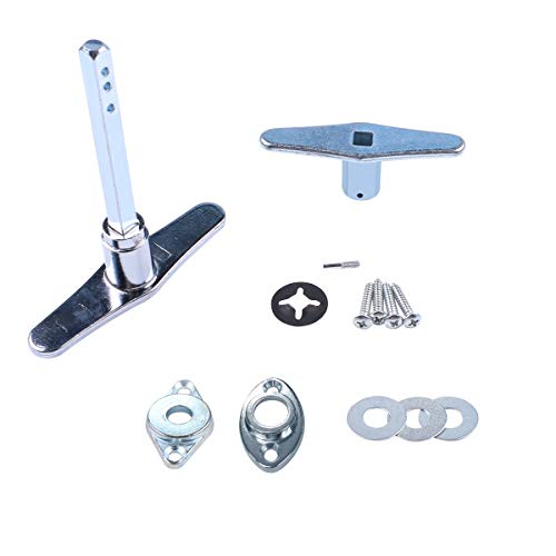 Garage Door Lock Dummy T Handle Assembly Non-Locking Door Hardware Kit (Without Keys) Chrome Plated (Best Garage Door Lock)