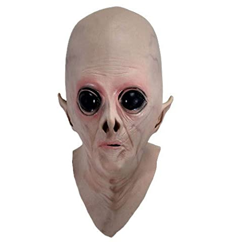 1 Piece Scary Silicone Face Mask Alien Ufo Extra Terrestrial Party Et Horror Rubber Latex Full Masks For Halloween Party