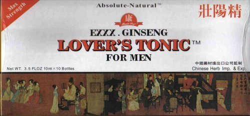 Beauti Leaf - Exxx. Ginseng Lover's Tonic For Men, 10 ml x 10 Bottles by Beauti Leaf