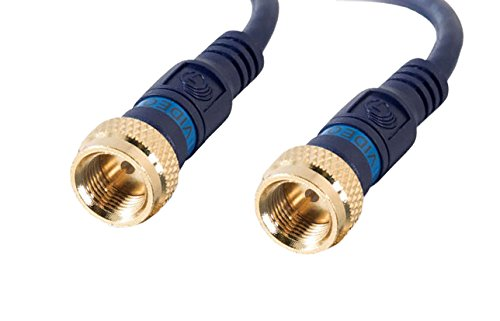 C2G/Cables to Go 27226 Velocity Mini-Coax F-type Cable, Blue (3 Feet)