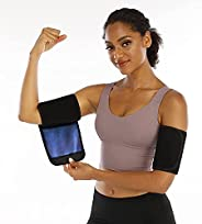 Sauna Sweat Arm Trimmer Bands arm Sweat Bands for Women Weight Loss Arm Shaper Wraps for Workout arm Bands for