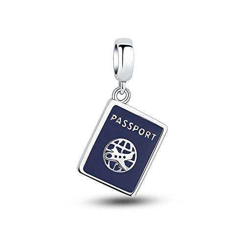 Glamulet Art Passport Pendant Dangle Charm 925