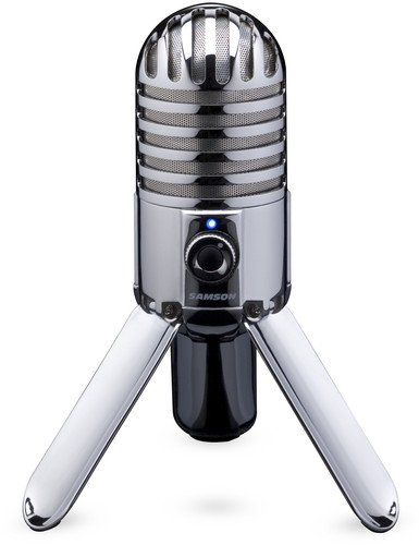 Samson Meteor Mic USB Studio Microphone (Chrome)