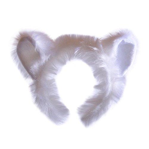 Wildlife Tree Plush Polar Bear Ears Headband Accessory for Polar Bear Costume, Cosplay, Pretend Animal Play or Arctic Animal Costumes -
