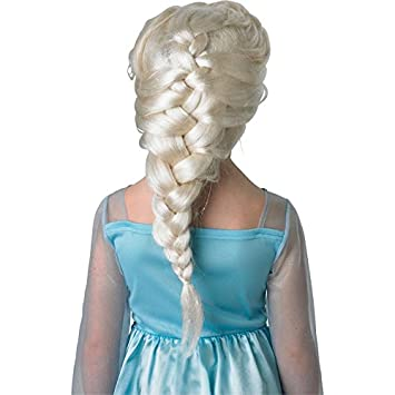 Amazon.com: Rubies Official Childs Frozen Elsa Wig - One Size: Toys & Games