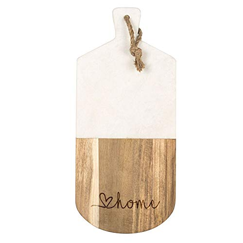 - Love Home Marble & Acacia Serving Board