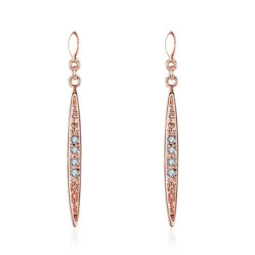 Plated Zirconia Linear Earrings Jewelry