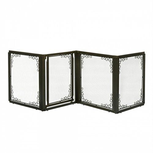 richell-convertible-elite-mesh-pet-gate-4-panel