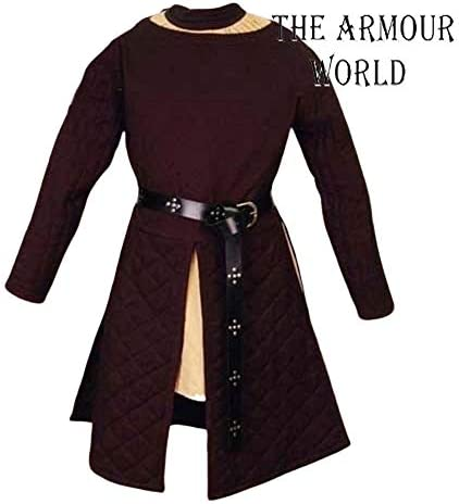 Details about  /HALLOWEEN Black Medieval Gambeson Jacket Padded Armor SCA LARP WMA Multiple Size