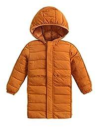 Roffatide Children Winter Hooded Down Coat Puffer Jacket Mid-Long